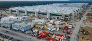 Pulled up in no time at all: the Tesla Gigafactory east of Berlin.