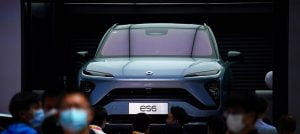 Competition from the east: a car from the Chinese manufacturer Nio in Beijing
