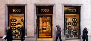 Tod's luxury shop in Rome: The French LVMH group has a stake in the Italian brand.
