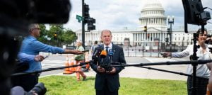 Olaf Scholz (SPD), Federal Minister of Finance, in front of the Capitol in Washington