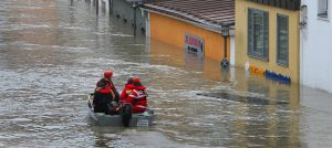 Under water: The Danube floods in 2013 led to floods in Passau
